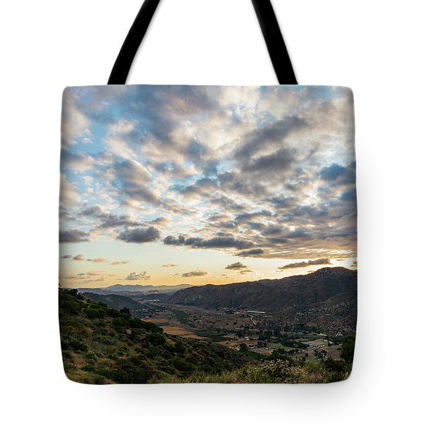 Sunset Over El Monte Valley Tote Bag