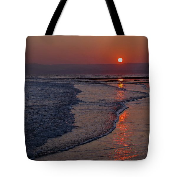 Sunset Over Exmouth Beach Tote Bag