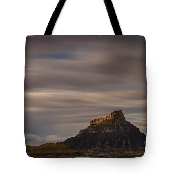 Sunset Over Factory Butte Tote Bag