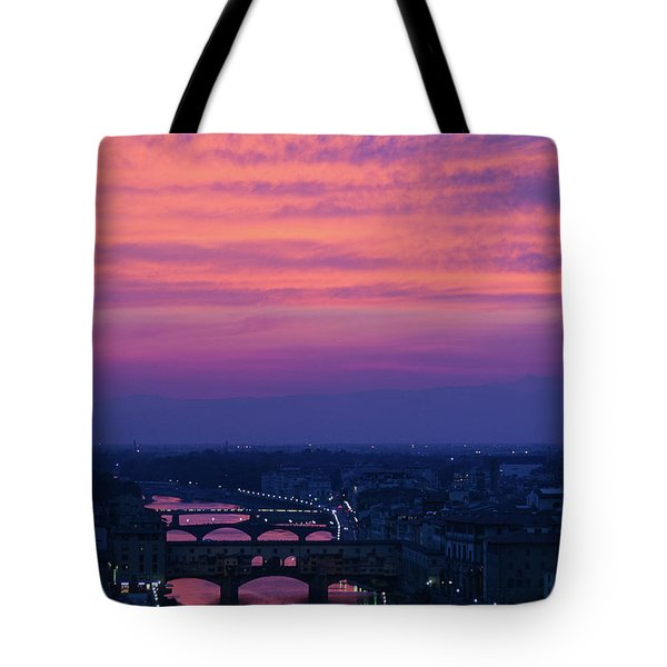 Sunset Over Florence Tote Bag