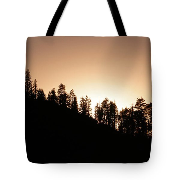 Sunset Over Glacier Point Tote Bag