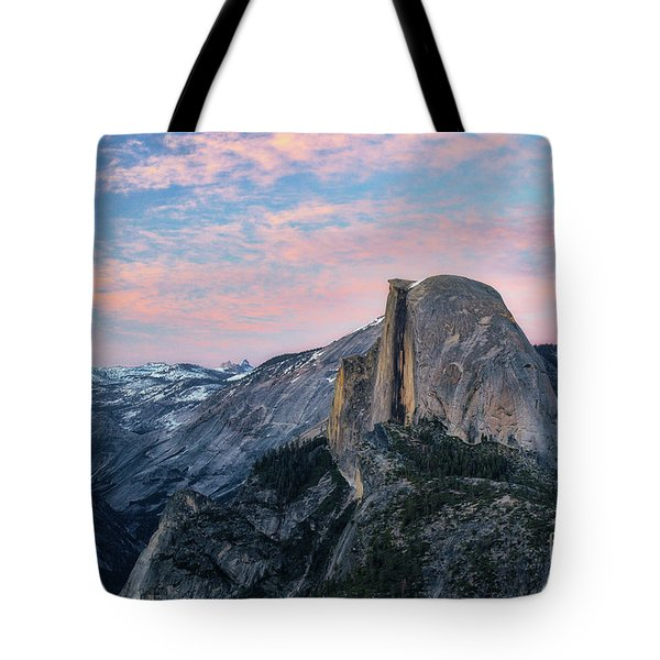 Sunset Over Half Dome Tote Bag