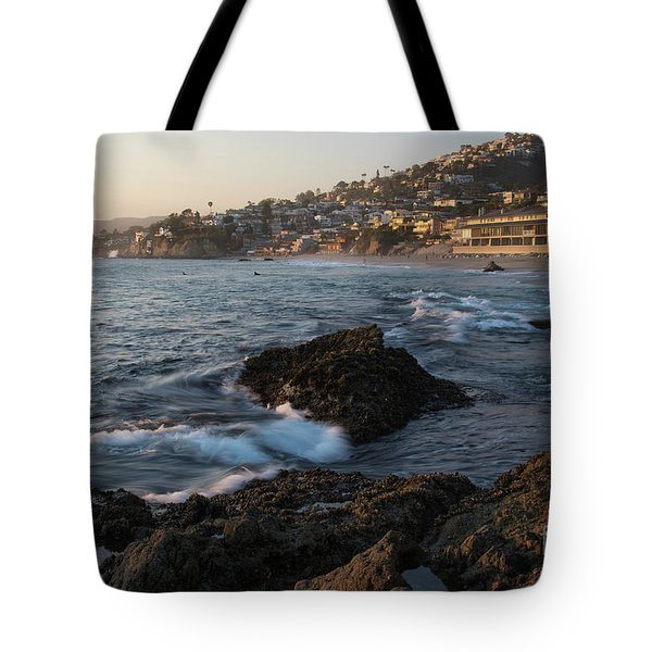 Tote Bag featuring the photograph Sunset Over Laguna Beach   by Vincent Bonafede