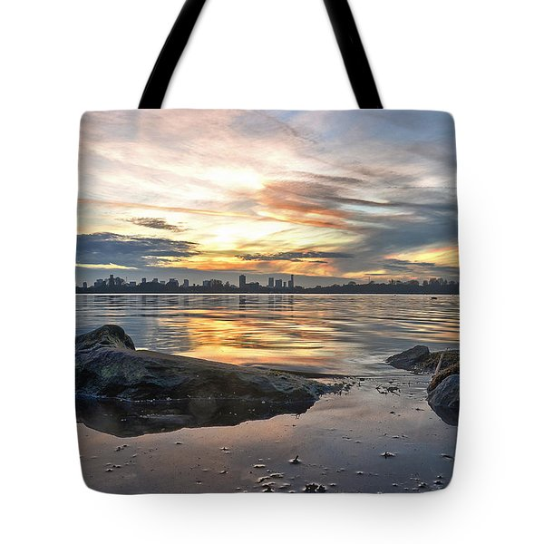 Sunset Over Lake Kralingen  Tote Bag