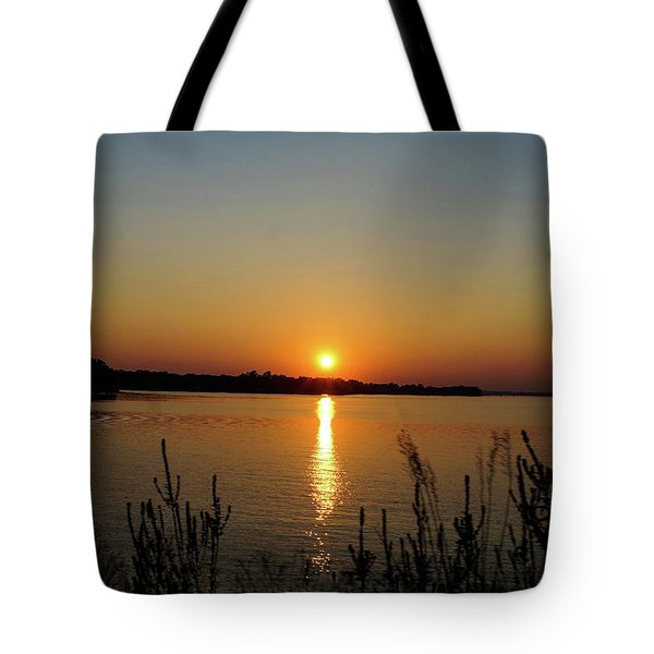 Sunset Over Lake Norman Tote Bag
