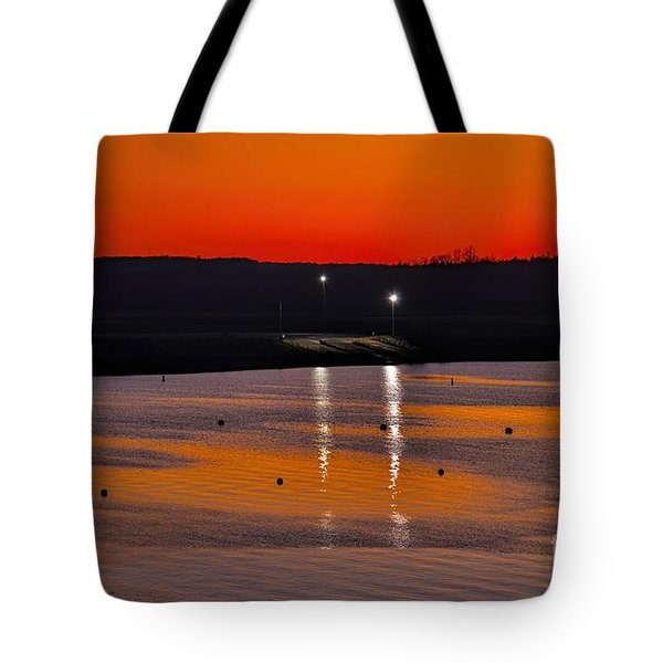 Tote Bag featuring the photograph Sunset Over Lake Texoma by Diana Mary Sharpton