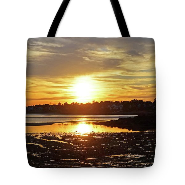 Sunset Over Lynch Park Beverly Ma Tote Bag