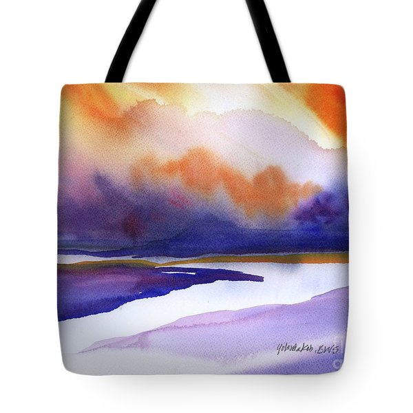 Sunset Over Marsh Tote Bag