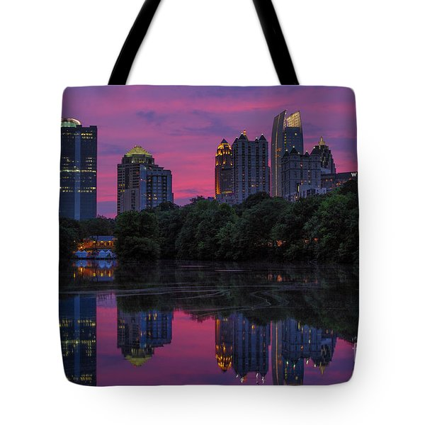 Sunset Over Midtown Tote Bag