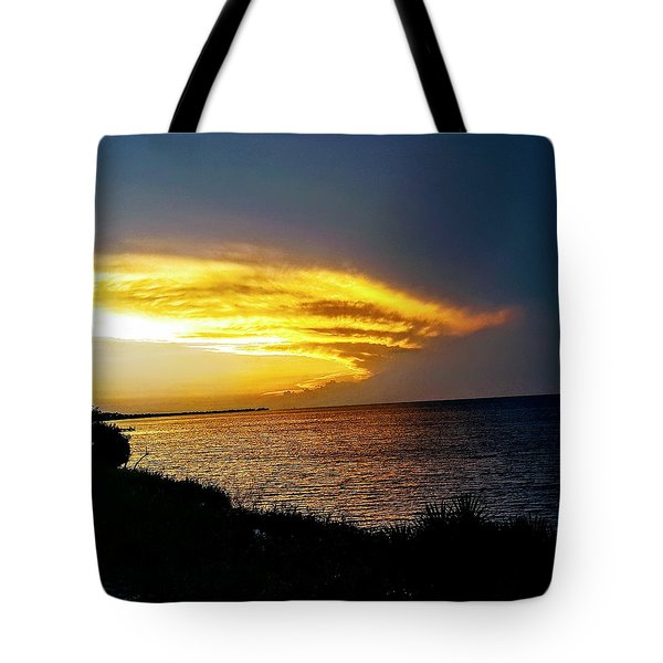Sunset Over Mobile Bay Tote Bag