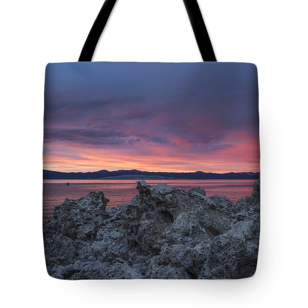 Tote Bag featuring the photograph Sunset Over Mono Lake by Sandra Bronstein