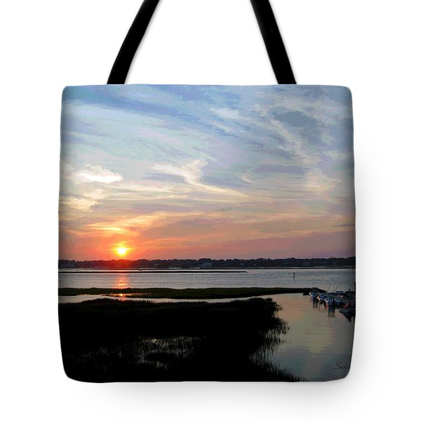 Sunset Over Murrells Inlet II Tote Bag by Suzanne Gaff