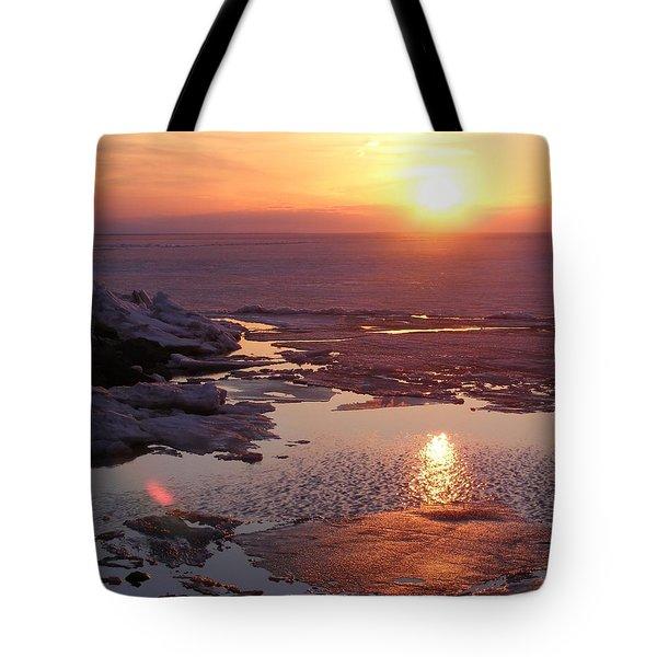Sunset Over Oneida Lake - Horizontal Tote Bag