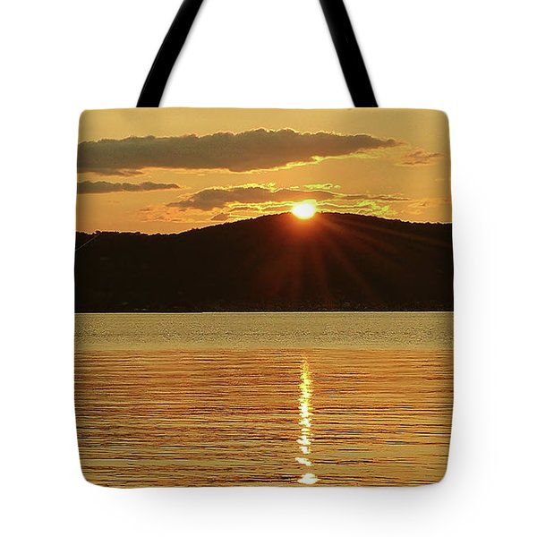 Sunset Over Piermont Tote Bag