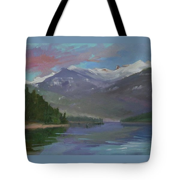 Sunset Over Priest Lake, Id Tote Bag