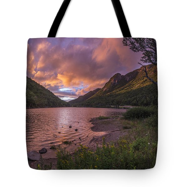 Sunset Over Profile Lake Tote Bag