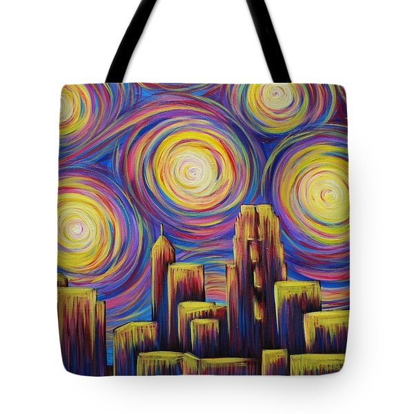 Sunset Over Raleigh Tote Bag