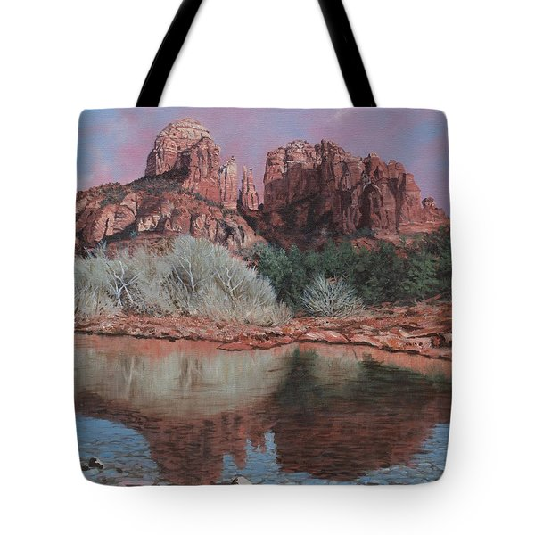 Sunset Over Red Rocks Of Sedona  Tote Bag