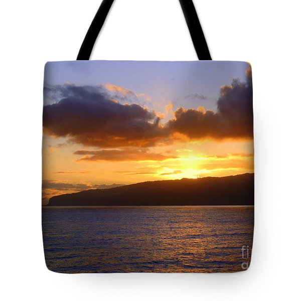 Sunset Over Reunion Island Tote Bag
