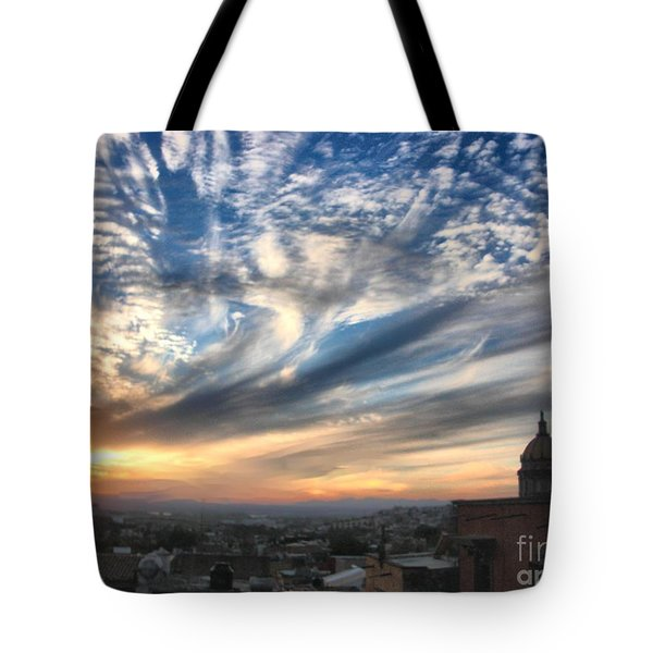 Sunset Over San Miguel De Allende Tote Bag