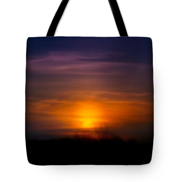 Sunset Over Scuppernong Springs Tote Bag