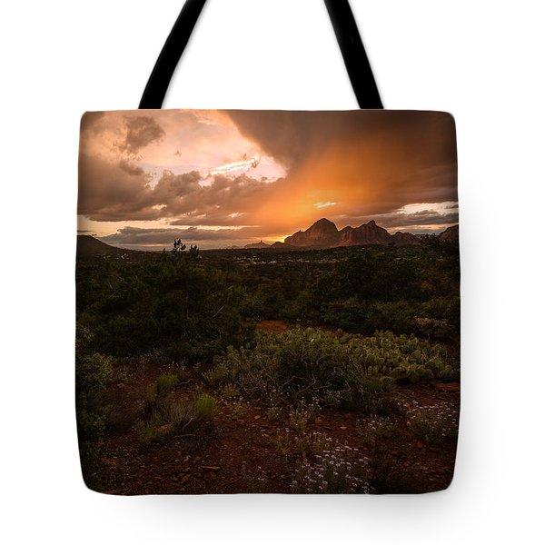 Sunset Over Sedona Tote Bag