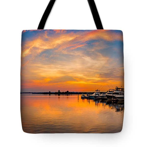 Sunset Over Shrewsbury Bay Tote Bag