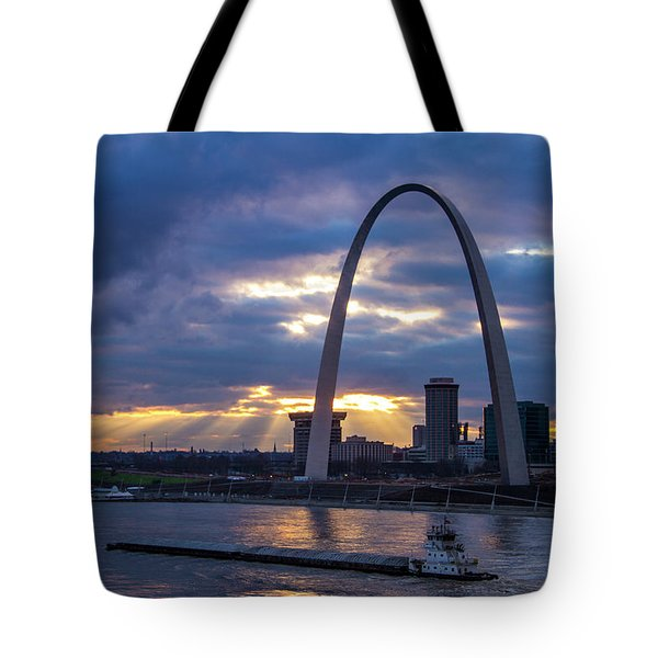 Sunset Over St Louis Tote Bag