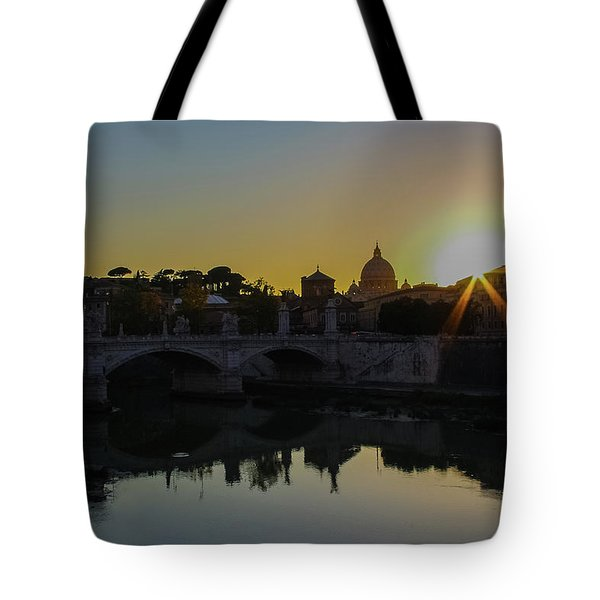 Sunset Over St Peters Tote Bag