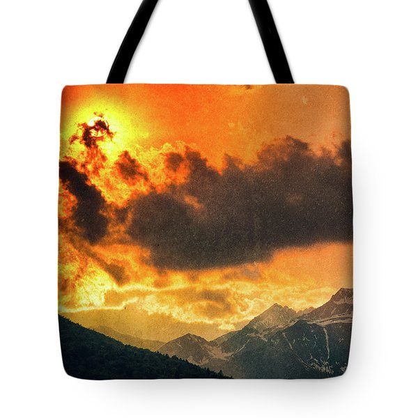Tote Bag featuring the photograph Sunset Over The Alps by Silvia Ganora