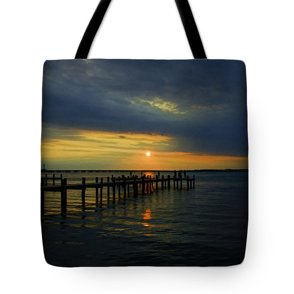 Sunset Over The Bay Tote Bag