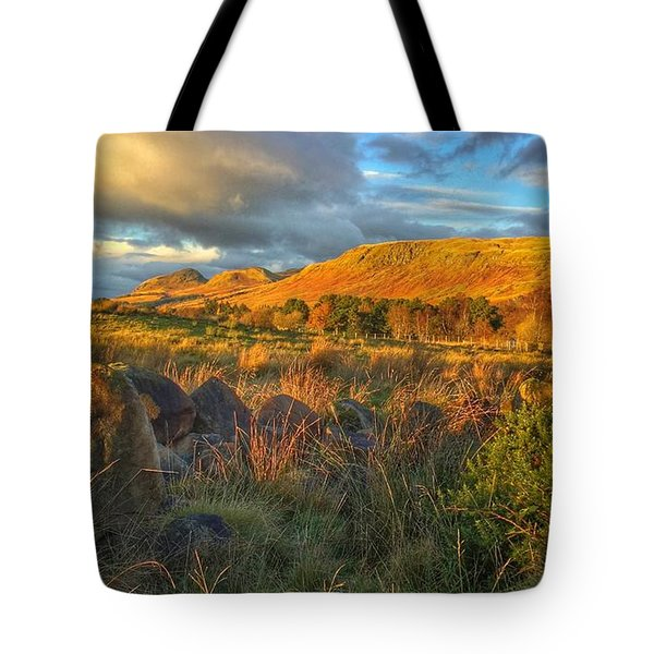 Sunset Over The Campsie Fells Tote Bag