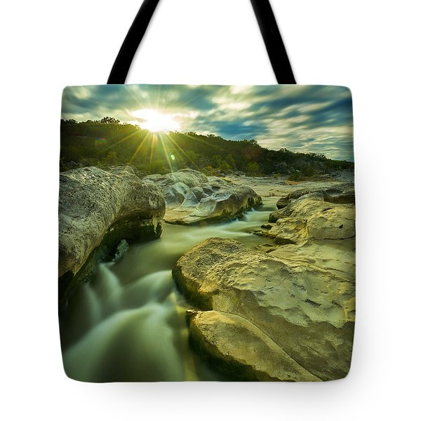 Sunset Over The Cascade Tote Bag