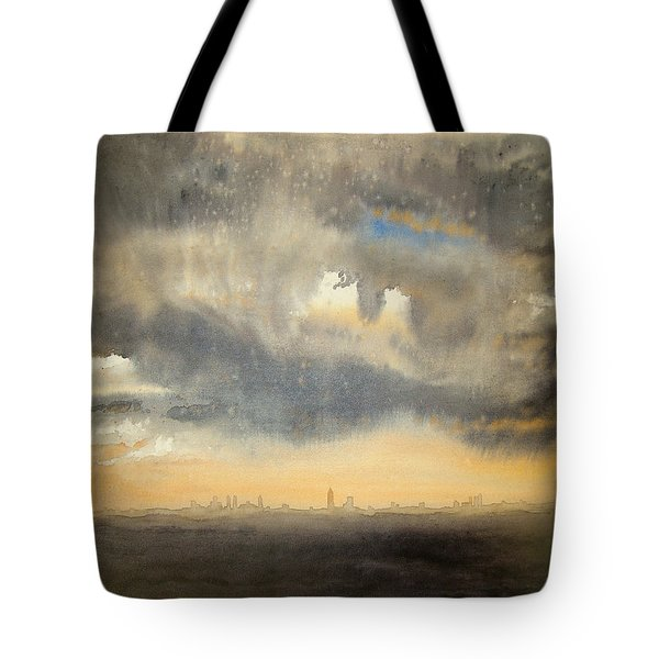 Sunset Over The City Tote Bag by Andrew King