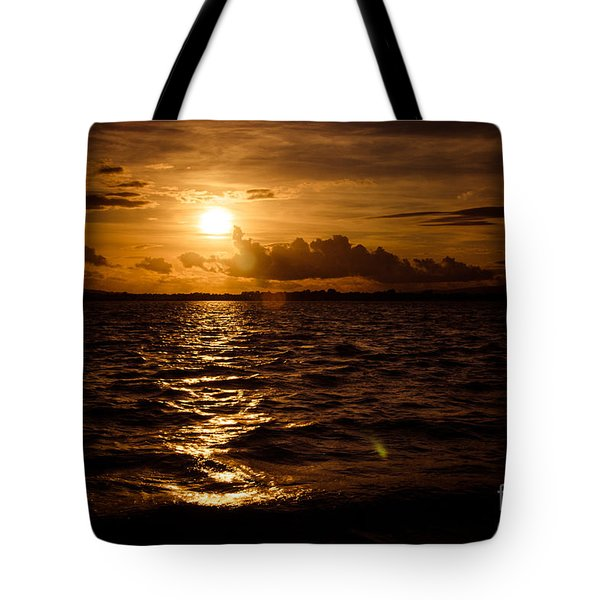 Sunset Over The Cunnigar Tote Bag