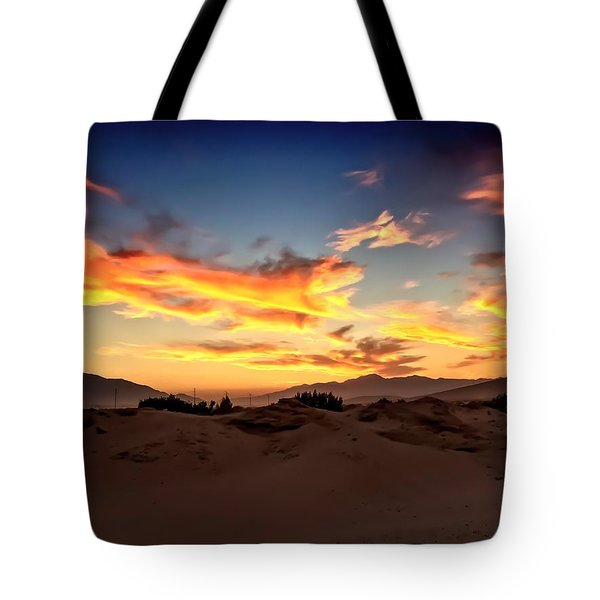 Sunset Over The Desert Tote Bag