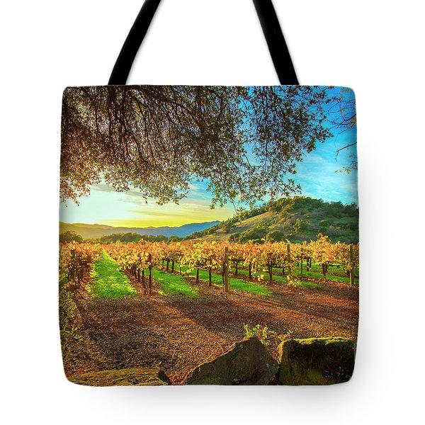 Sunset Over Napa  Tote Bag