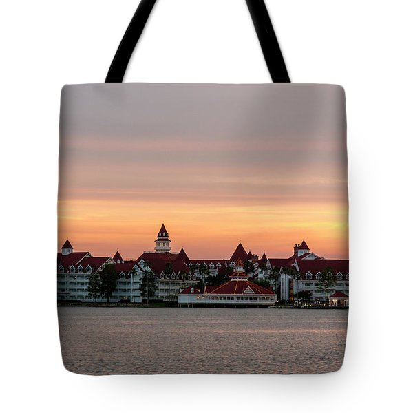 Sunset Over The Grand Floridian Tote Bag