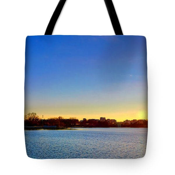 Sunset Over The Jefferson Memorial  Tote Bag