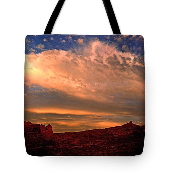 Sunset Over The Moab Rim 2 Tote Bag