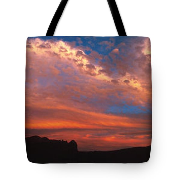 Sunset Over The Moab Rim Tote Bag