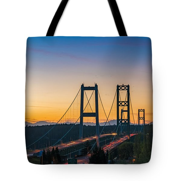 Sunset Over The Narrows Tote Bag by Ken Stanback