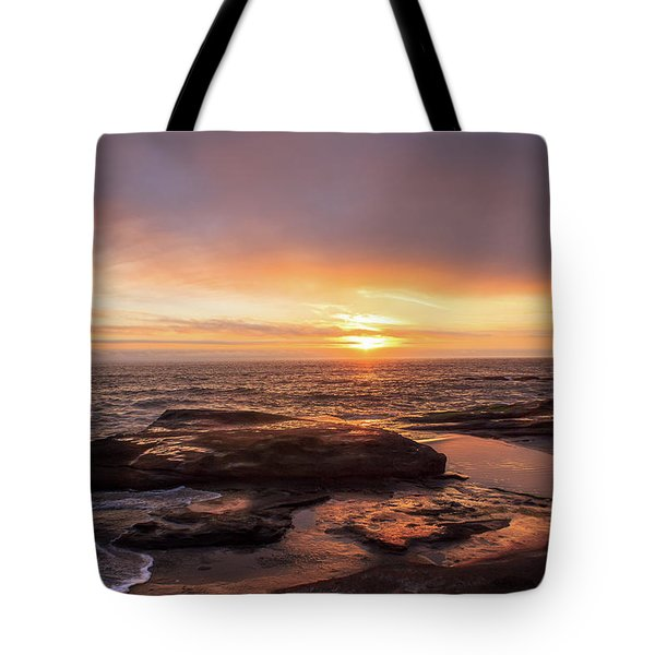 Tote Bag featuring the photograph Sunset Over The Ocean by Tyra OBryant