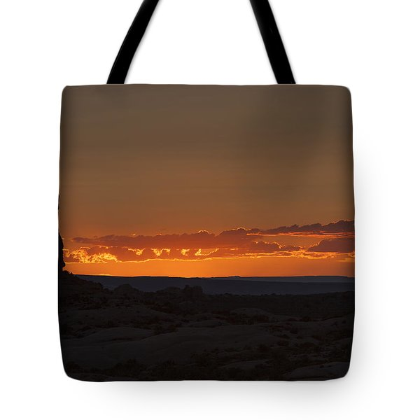 Sunset Over The Petrified Dunes Tote Bag