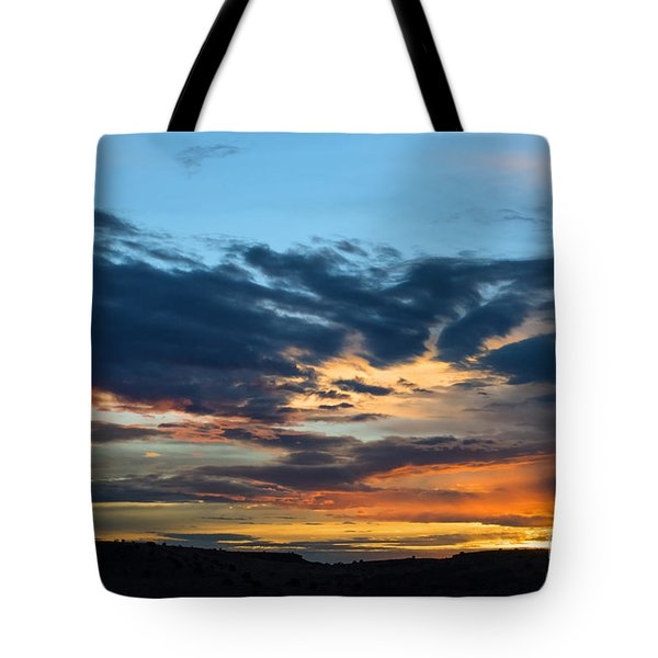 Tote Bag featuring the photograph Sunset Over The Plains Of The Texas Panhandle 1 by MaryJane Armstrong