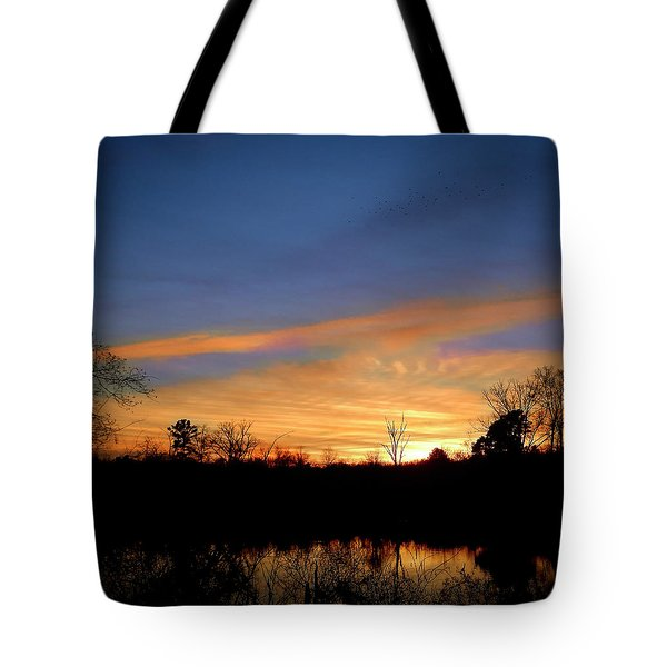 Sunset Over The Sabine 02 Tote Bag
