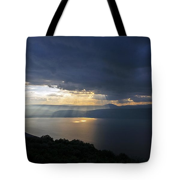 Sunset Over The Sea Of Galilee Tote Bag
