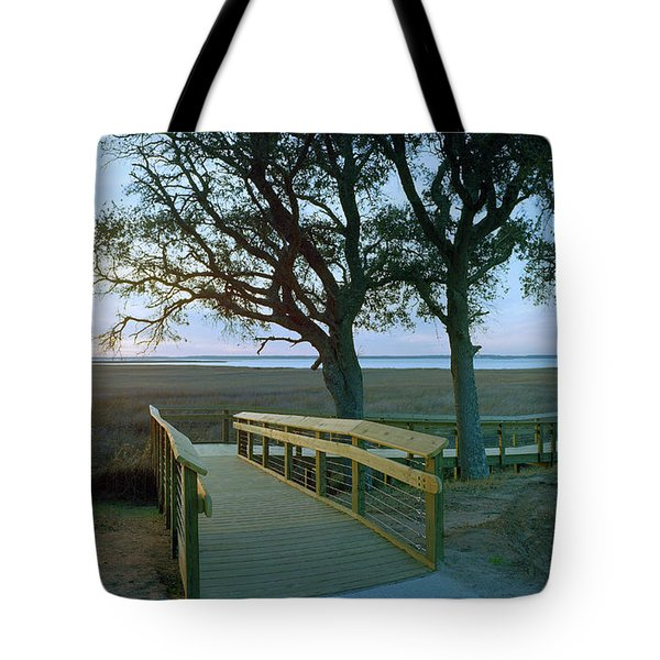 Sunset Over The Sound Tote Bag