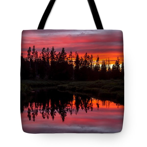 Sunset Over The Stillwater Tote Bag