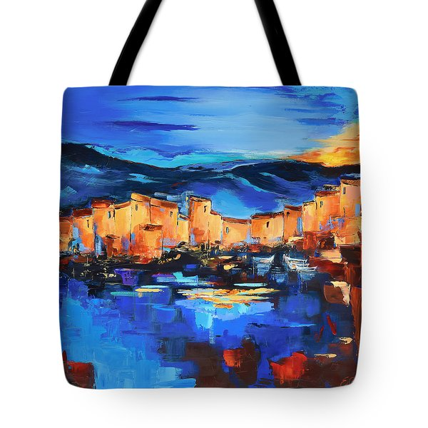 Sunset Over The Village 2 By Elise Palmigiani Tote Bag
